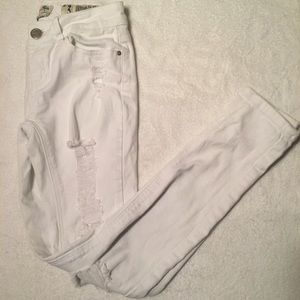 White Indigo Rein Ripped Skinny Jeans